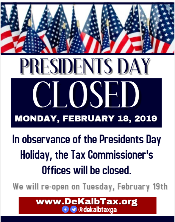 President's Day - Office Closed